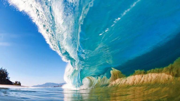 ¿Hacia qué lado rompen las olas?