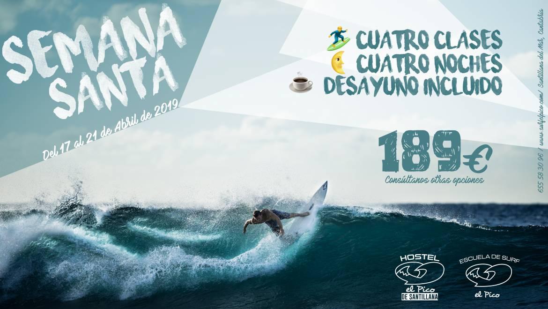 Oferta surfcamp Semana Santa 2019