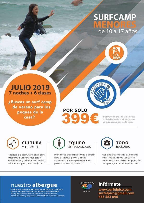 Campamento de Verano de Surf 2019