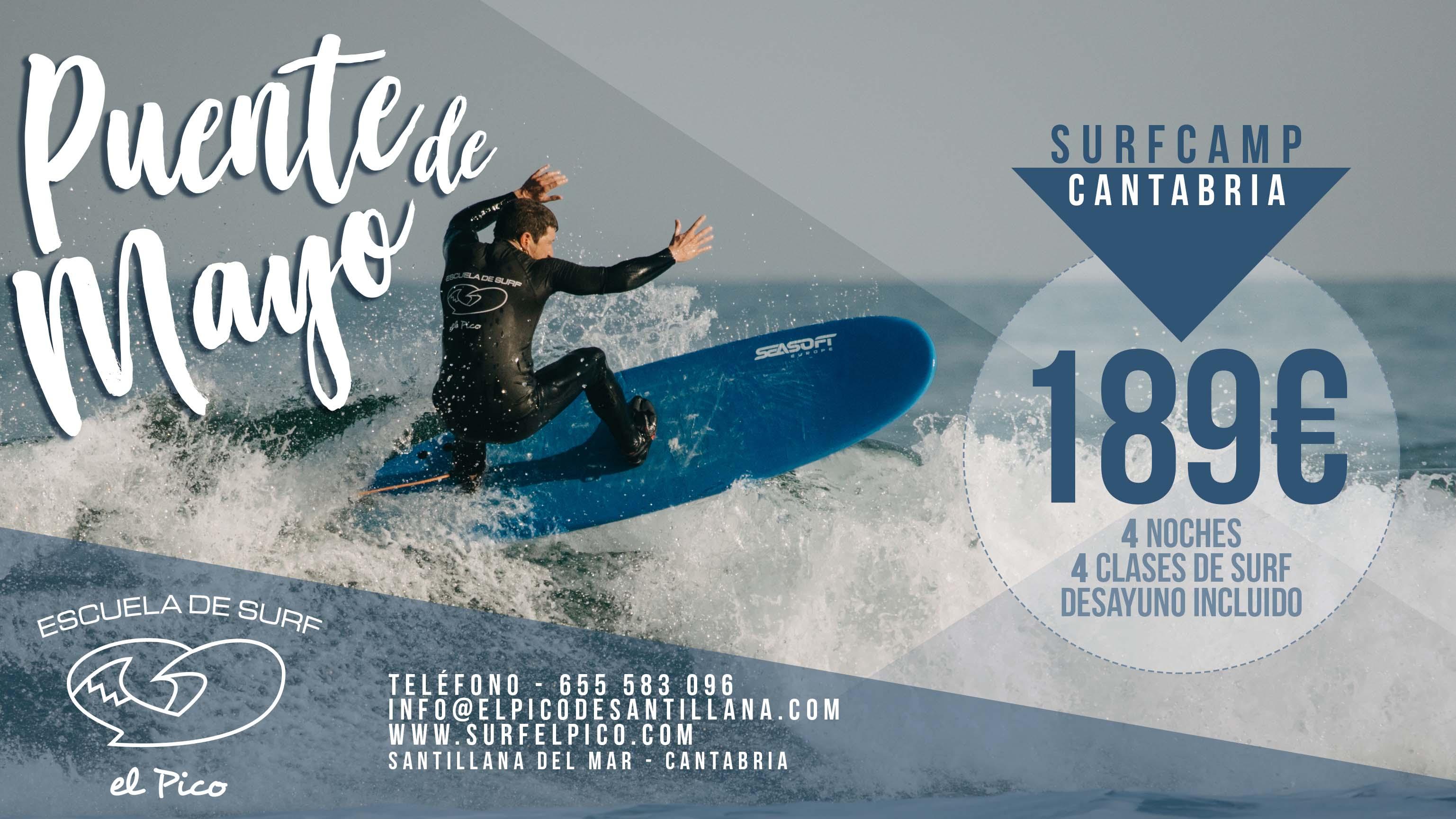 Oferta Surfcamp Puente de Mayo 2019 🔥
