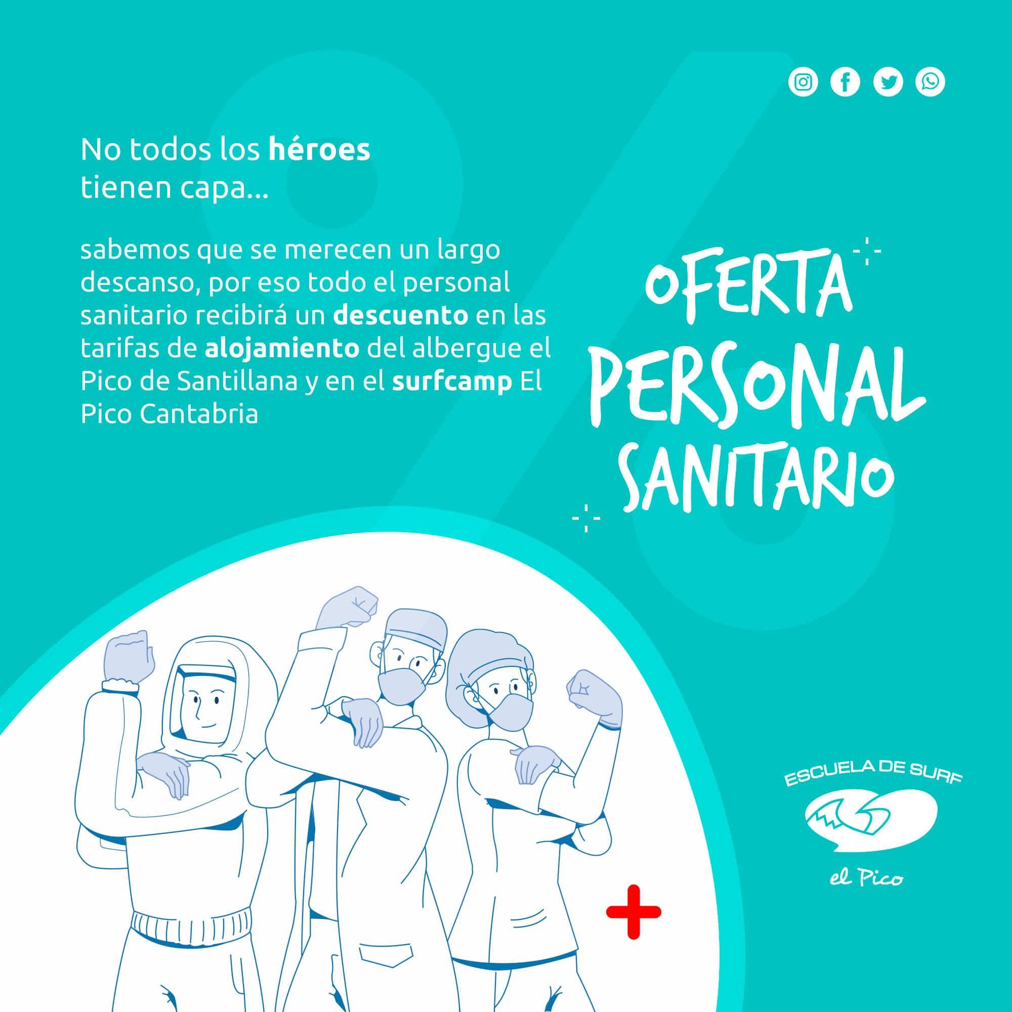 Descuento para personal sanitario