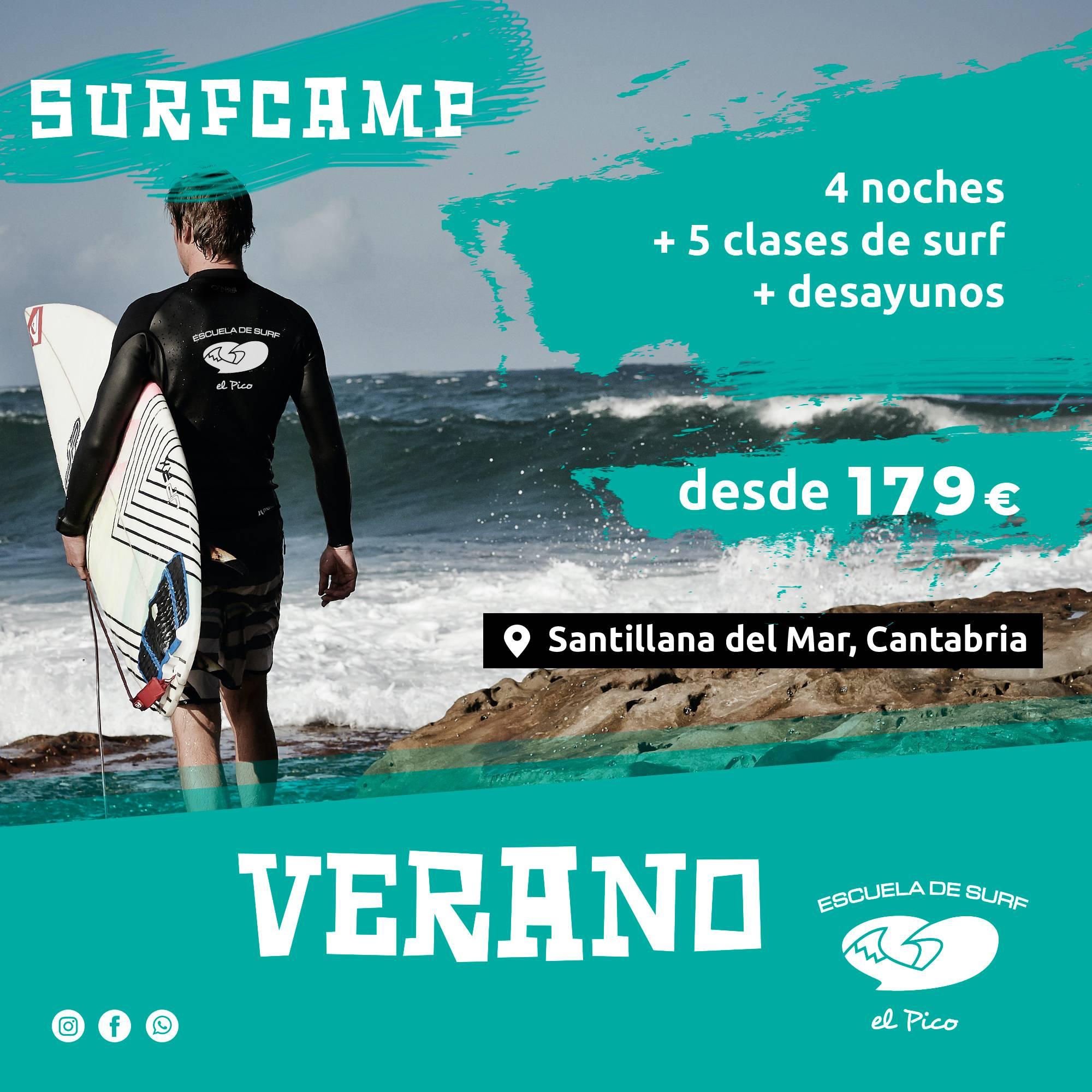 Promoción surfcamp verano Cantabria