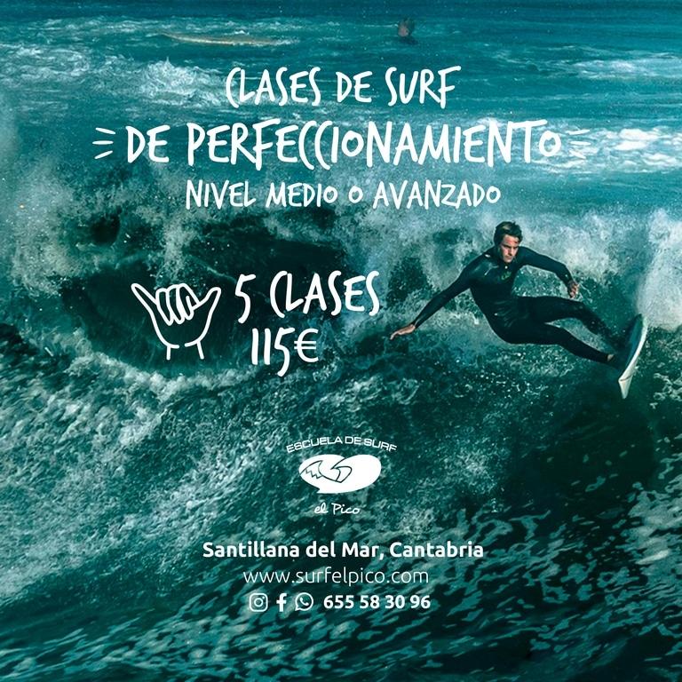 Perfeccionamiento de surf en Cantabria: Clases surf perfeccionamiento